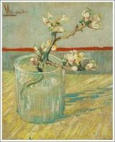 グラスに生けた花咲くアーモンドの小枝 ゴッホ