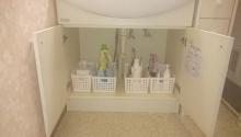 イノマタ化学ワイドバスケット洗面台下1