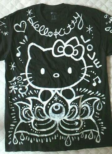 キティーTシャツ黒