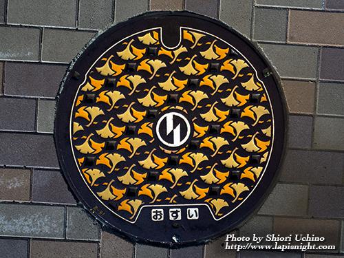 東京都 稲城市 マンホール -イチョウ-