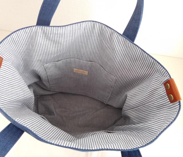 トラディショナルバッグ デニムブルー