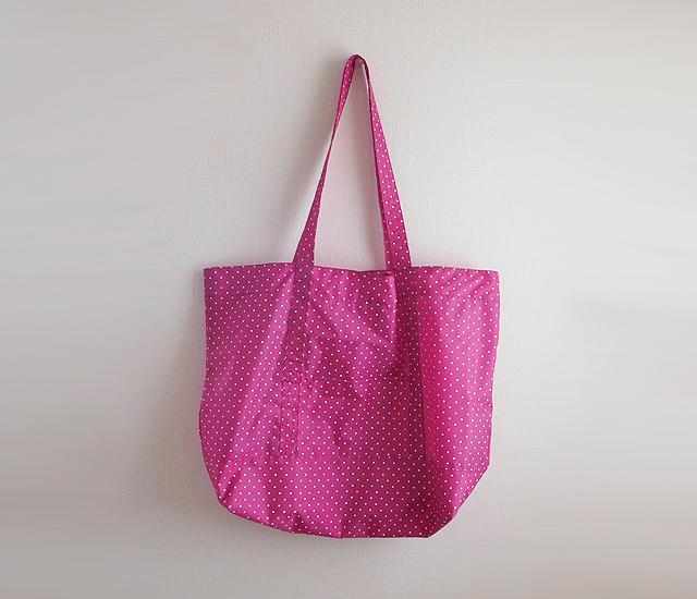 水玉 ナイロン製 ショルダーバッグ