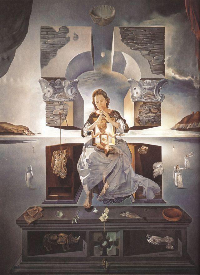 ダリの奥さんガラのポリトガト聖母絵画