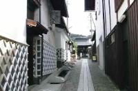 木曽路 福島 宿場町の裏通り