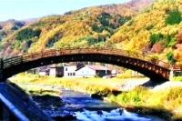 奈良井宿 木曽の大橋