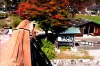 奈良井宿 木曽の大橋から