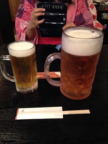 ビールとメガビール (コピー)
