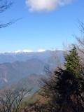 竜爪山からの南プス