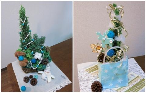 【おうち花マスター講座】テーブルに飾れるミニクリスマスツリー