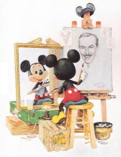 ウォルト・ディズニーに憧れているミッキーマウス