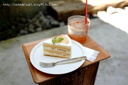 Afterhours◇桃のショートケーキ