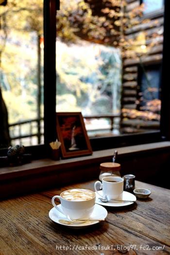 月待の滝 もみじ苑◇キャラメル・ラ・テ&コーヒー