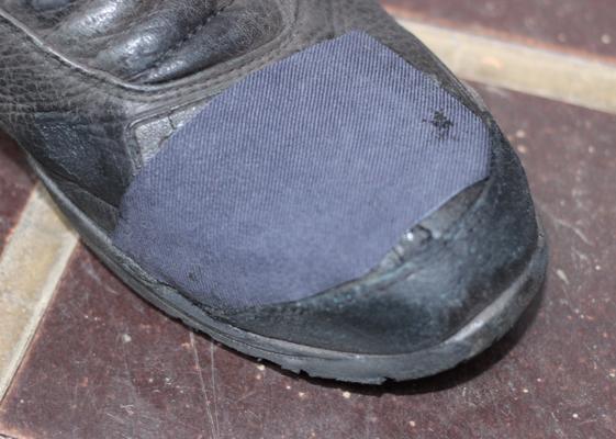 補修後のブーツ