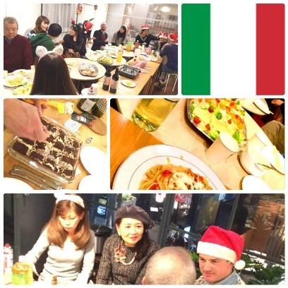 collage_photocat italian xmas party