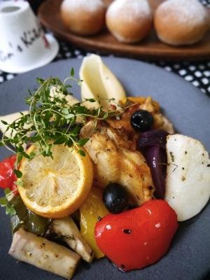 冬野菜と手羽元のロースト