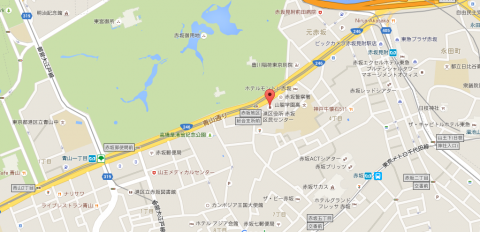 赤坂区民センター地図