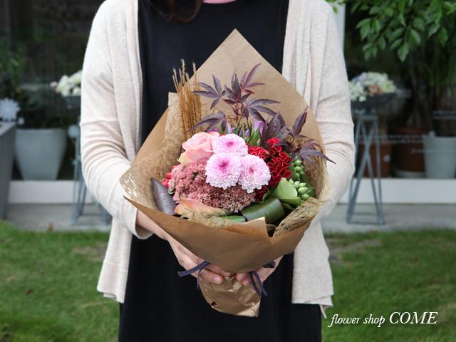 花束 和風 シック 枝 個性的 花屋