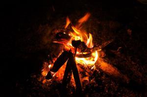風景 焚火