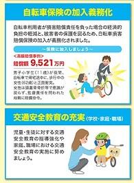 自転車保険の加入義務化、安全教育の充実