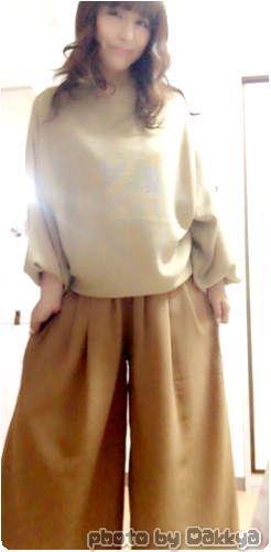 秋のコーデ着画!THREE RINGSで買ったスカーチョなど