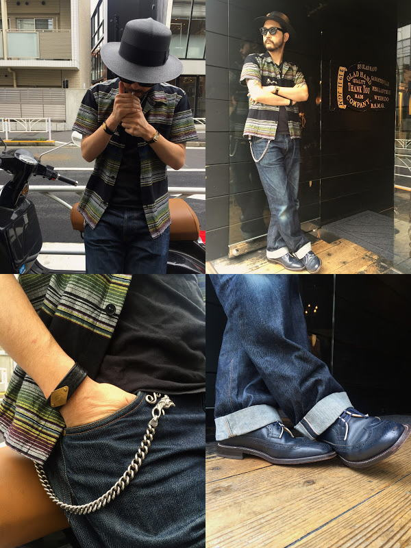 GANGSTERVILLE SARAPE-SHIRTS GLAD HAND×REGAL AMERICAN BROGUE-SHOES
