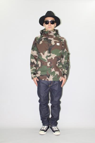 INTERFACE PURE WOOL FELT HAT HOODED CAMO JKT DENIM PT Type-S
