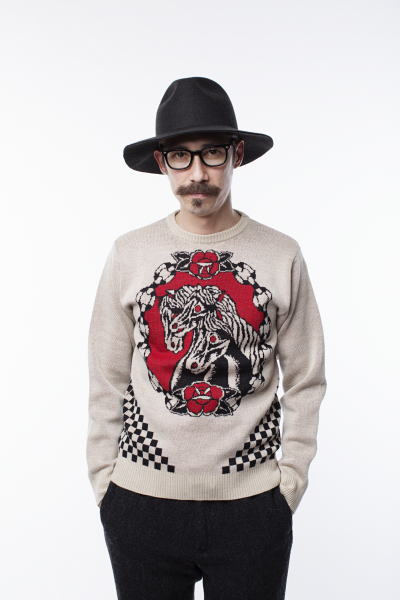 SOFTMACHINE PHARAOH SWEATER ANDREW PANTS S.J.D PARKES GLASS