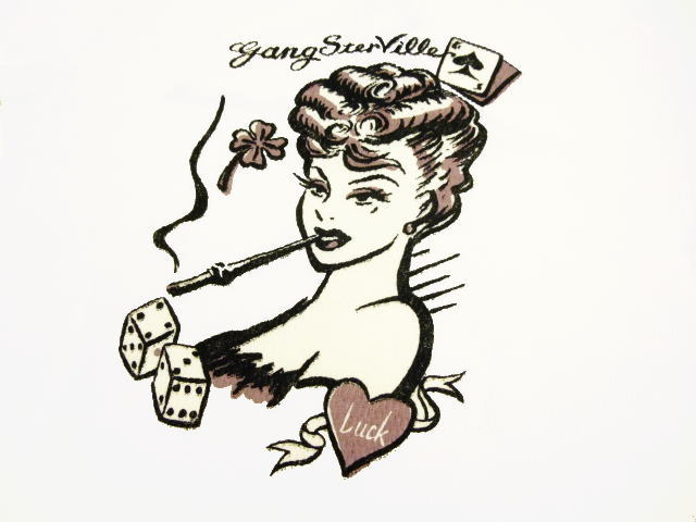GANGSTERVILLE VEGAS LADY-L/S HENRY T-SHIRTS