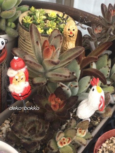 ろみたん ピーナッツ人形 サンタ ニワトリ 201612