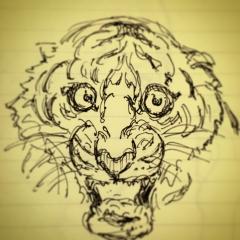 虎 落書き ミリペン