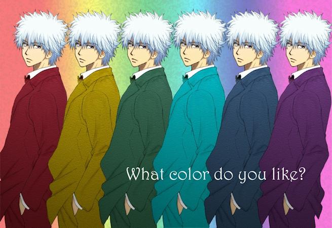 スーツ銀さん 銀魂 カラーイラスト