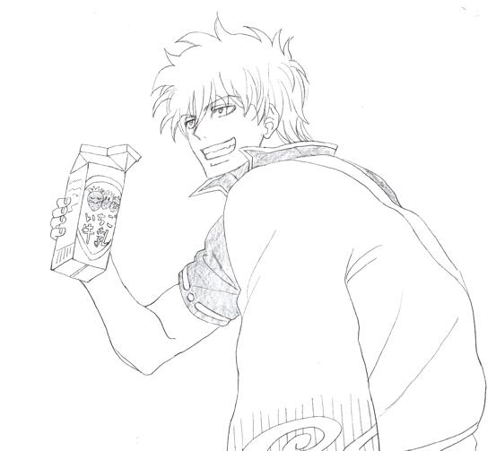 坂田銀時 銀魂 いちご牛乳