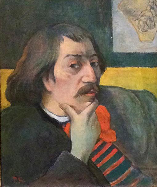20161108 デトロイト美術館展 ゴーギャン 自画像 1893