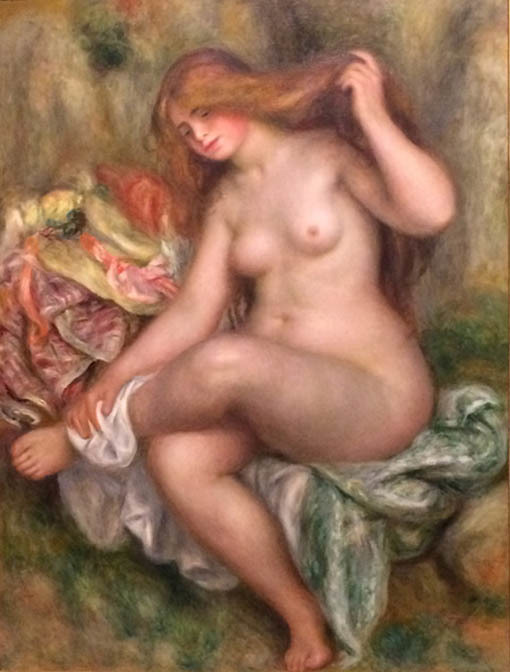 20161108 デトロイト美術館展 ルノアール 座る浴女 1903 18㎝
