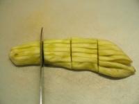 蒸しなすのツナサラダ、なす皮26