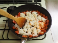 ナポリタン風ケチャップご飯17