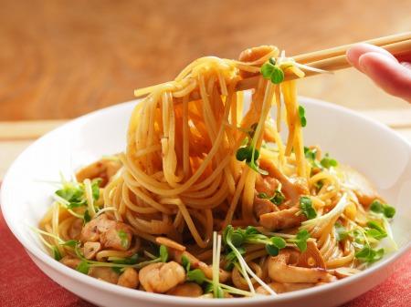 鶏むね肉の焼肉スパゲティ43