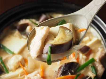 鶏むね肉と茄子の生姜味噌40