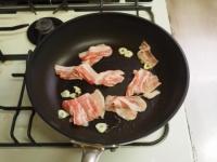 豚ばら肉と水菜のぽん酢パスタ11