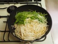 豚ばら肉と水菜のぽん酢パスタ15