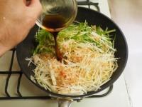 豚ばら肉と水菜のぽん酢パスタ17