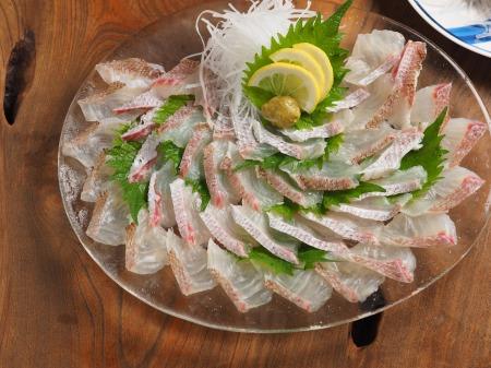 鯛とさざえの刺身、海鮮味噌44