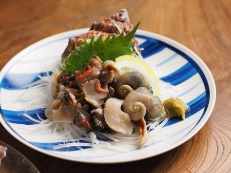 鯛とさざえの刺身、海鮮味噌37
