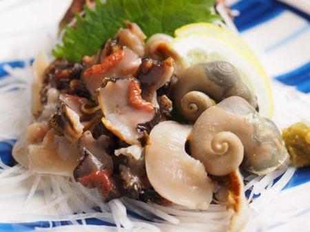 鯛とさざえの刺身、海鮮味噌48