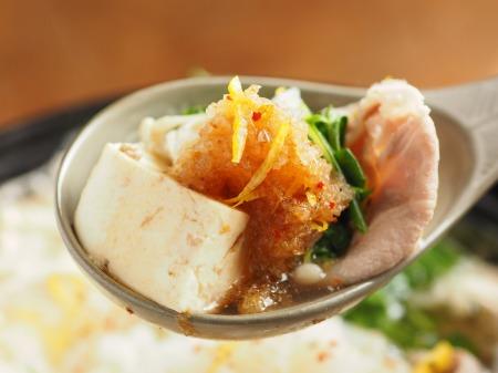 豆腐と水菜のみぞれ鍋52