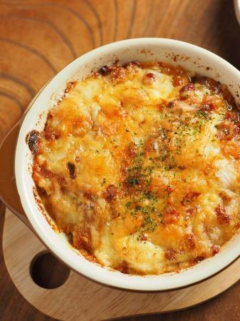たたき長芋と納豆のグラタン21