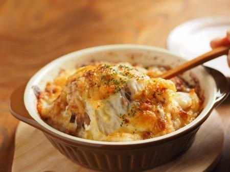 たたき長芋と納豆のグラタン34