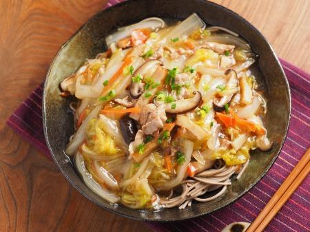 煮込み白菜のあんかけ蕎麦32