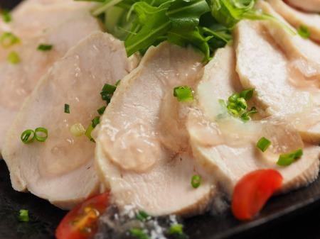 メシ通蒸し鶏40