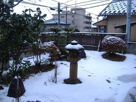 はつ積雪20161216